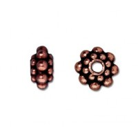 8mm Panten Spacer Beads by TierraCast, Antique Copper, Pack of 5