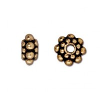 8mm Panten Spacer Beads by TierraCast, Antique Gold