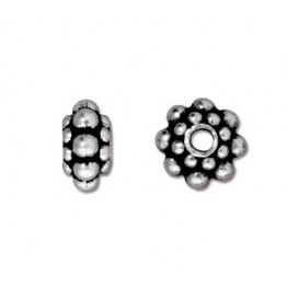 8mm Panten Spacer Beads by TierraCast, Antique Silver