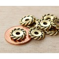 12mm Twist Large Hole Spacer by TierraCast, Antique Gold, Pack of 4