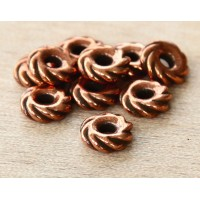 10mm Twisted Wide Spacer by TierraCast, Antique Copper