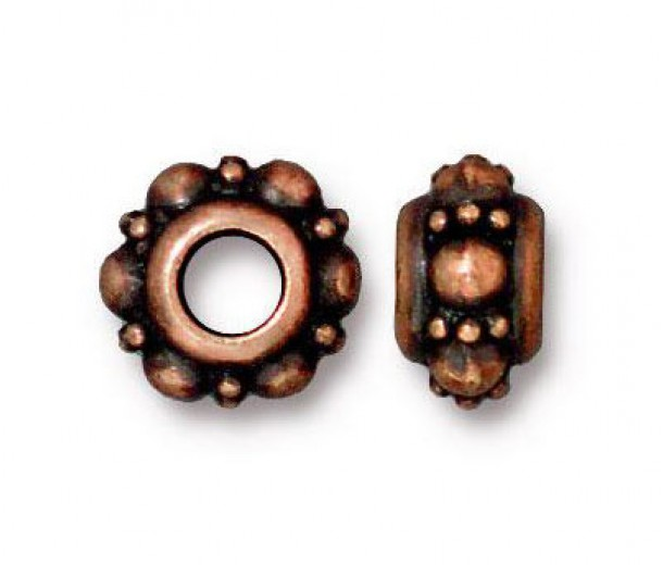 10mm Turkish Euro Bead by TierraCast, Antique Copper, Pack of 2