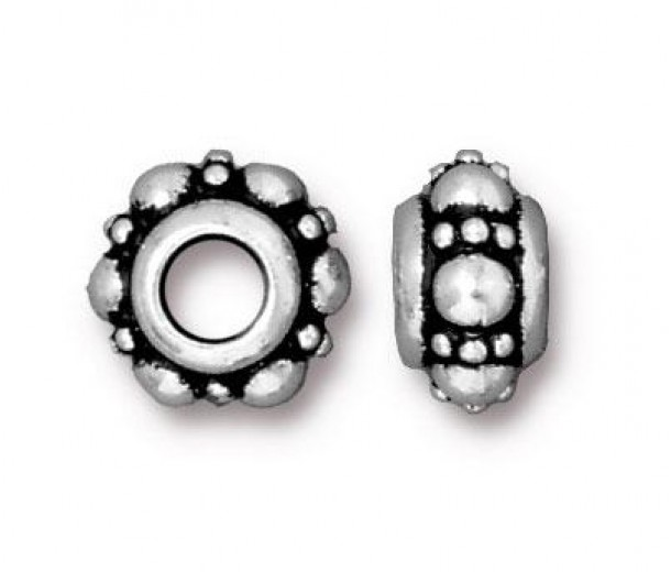 10mm Turkish Euro Bead by TierraCast®, Antique Silver