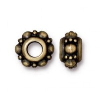10mm Turkish Euro Bead by TierraCast, Brass Oxide