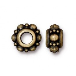 10mm Turkish Euro Bead by TierraCast, Brass Oxide