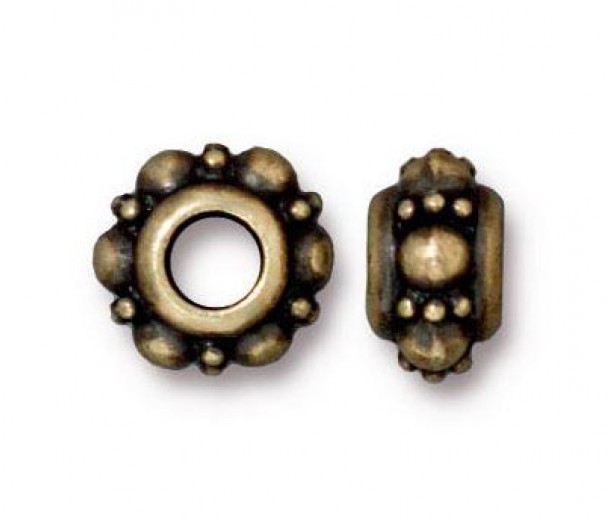 10mm Turkish Euro Bead by TierraCast, Brass Oxide, Pack of 2