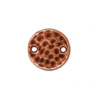 11mm Hammertone Round Link by TierraCast, Antique Copper, Pack of 4