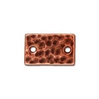 13x8mm Hammertone Rectangular Link by TierraCast®, Antique Copper