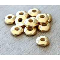 6mm Nugget Bead with 2mm Hole by TierraCast, Bright Gold