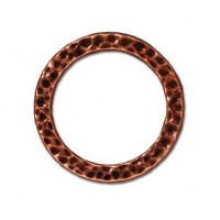 19mm Large Hammertone Ring by TierraCast, Antique Copper
