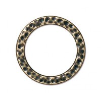 19mm Large Hammertone Ring by TierraCast, Brass Oxide