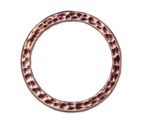 25mm Hammertone Ring by TierraCast, Antique Copper
