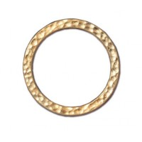 25mm Hammertone Ring by TierraCast, Bright Gold