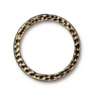 25mm Hammertone Ring by TierraCast, Brass Oxide