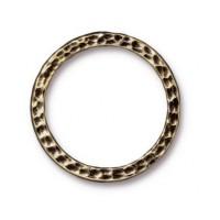 25mm Hammertone Ring by TierraCast, Brass Oxide