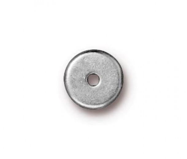 8mm Round Heishi Disks by TierraCast®, Bright Rhodium