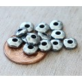 6mm Nugget Beads with 2mm Hole by TierraCast, Antique Pewter, Pack of 10