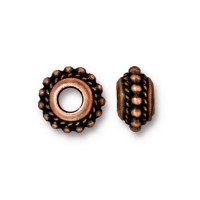 11mm Beaded Twist Large Hole Spacer by TierraCast, Antique Copper