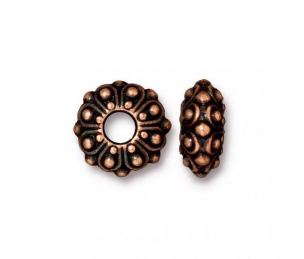 12mm Casbah Large Hole Spacer by TierraCast®, Antique Copper