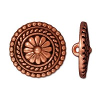 18mm Bali Button by TierraCast, Antique Copper