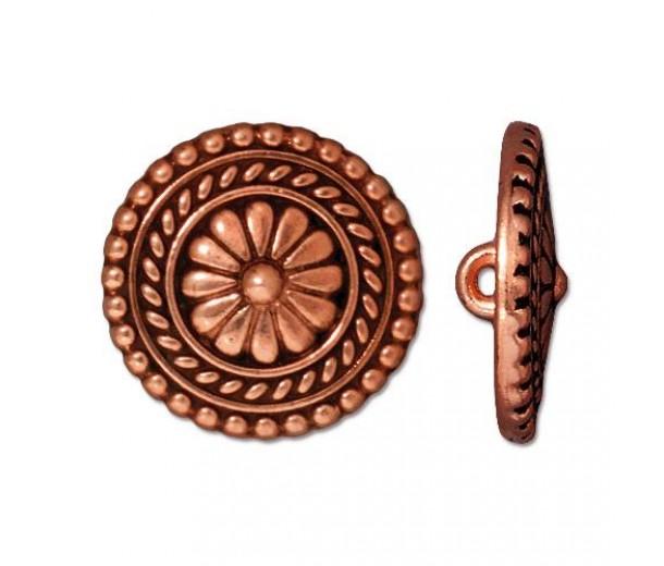 18mm Bali Button by TierraCast, Antique Copper, 1 Piece