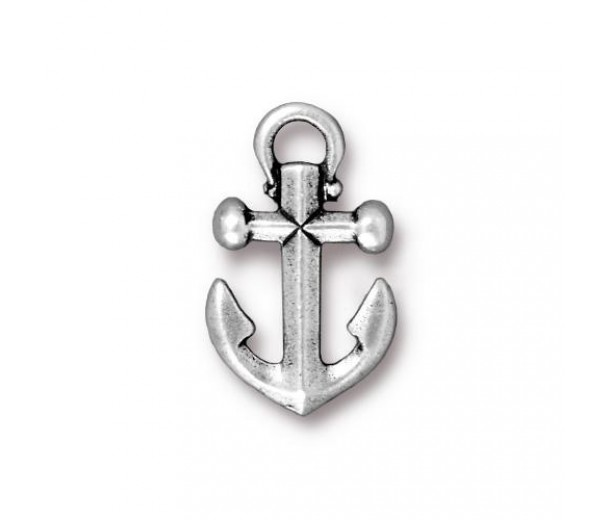 20mm Anchor Drop by TierraCast, Antique Silver