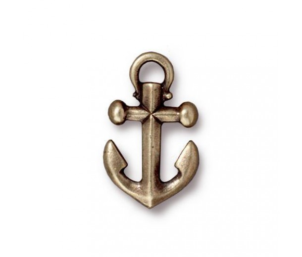 20mm Anchor Drop by TierraCast, Antique Brass, 1 Piece