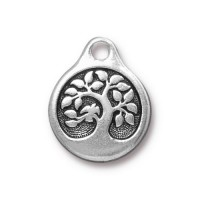 20mm Tree of Life Drop by TierraCast, Antique Silver