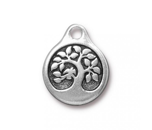 20mm Tree of Life Drop by Tierracast®, Antique Silver