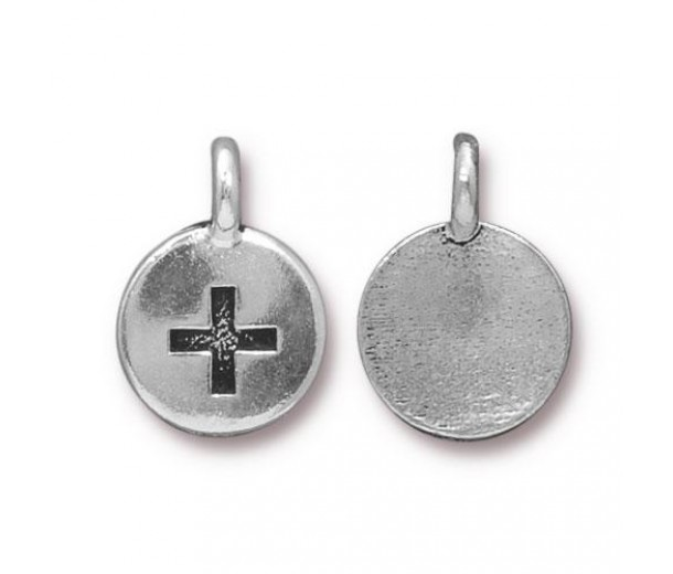 12mm Plus Charm by TierraCast, Antique Silver