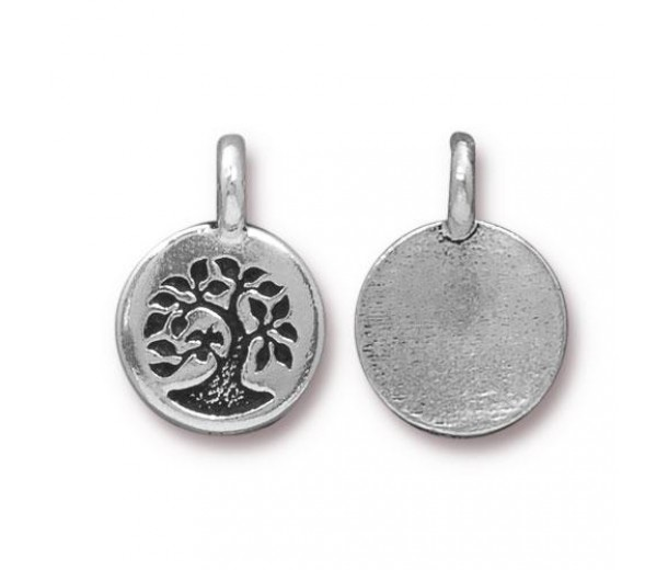 12mm Tree of Life Charm by TierraCast, Antique Silver