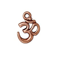 18x14mm Om Pendant by TierraCast, Antique Copper