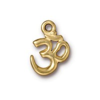 18x14mm Om Pendant by TierraCast, Bright Gold