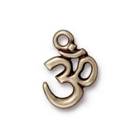 18x14mm Om Pendant by TierraCast, Antique Brass