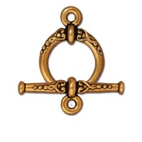 24mm Heirloom Toggle Clasp Set by TierraCast, Antique Gold