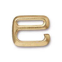 16x20mm E Hook Clasp by Tierracast®, Bright Gold