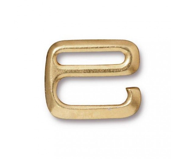 16x20mm E Hook Clasp by TierraCast, Bright Gold, 1 Piece