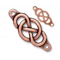 35x15mm Infinity Centerpiece Link by TierraCast®, Antique Copper