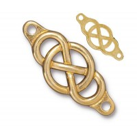 35x15mm Infinity Centerpiece Link by TierraCast, Bright Gold