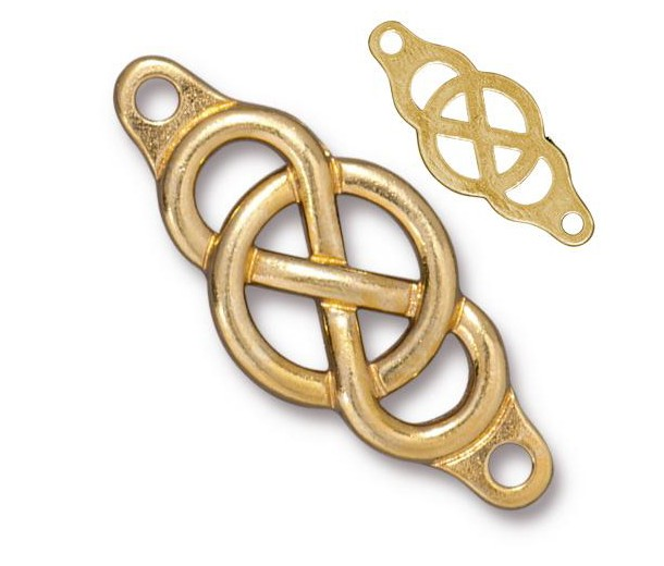 35x15mm Infinity Centerpiece Link by TierraCast®, Bright Gold
