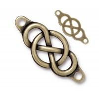 35x15mm Infinity Centerpiece Link by TierraCast, Brass Oxide