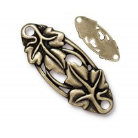 33x13mm Leaf Centerpiece Link by TierraCast, Brass Oxide