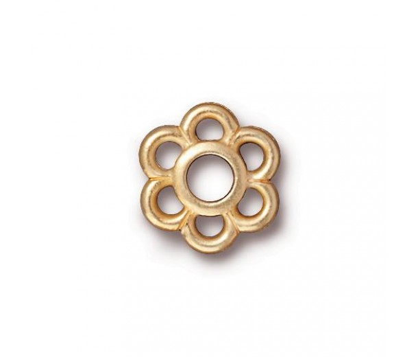 13mm 6-Petal Flower Link by TierraCast, Bright Gold, 1 Piece