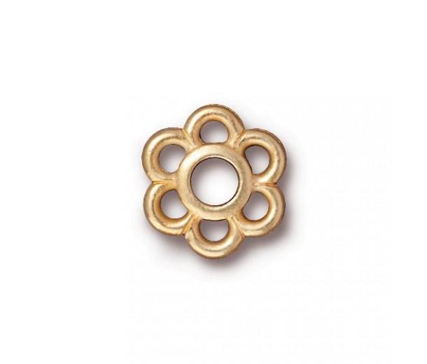 13mm 6-Petal Flower Link by TierraCast, Bright Gold, 1 Piece