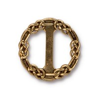 20mm Celtic Slider Link by TierraCast, Antique Gold