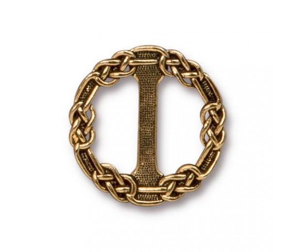 20mm Celtic Slider Link by Tierracast®, Antique Gold