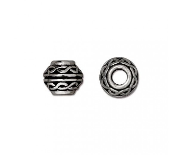9mm Celtic Large Hole Spacer by TierraCast®, Antique Silver