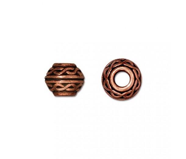 9mm Celtic Large Hole Spacer by TierraCast®, Antique Copper