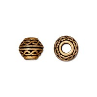 9mm Celtic Large Hole Spacer by TierraCast, Antique Gold