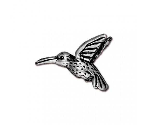 13mm Hummingbird Bead by TierraCast, Antique Silver